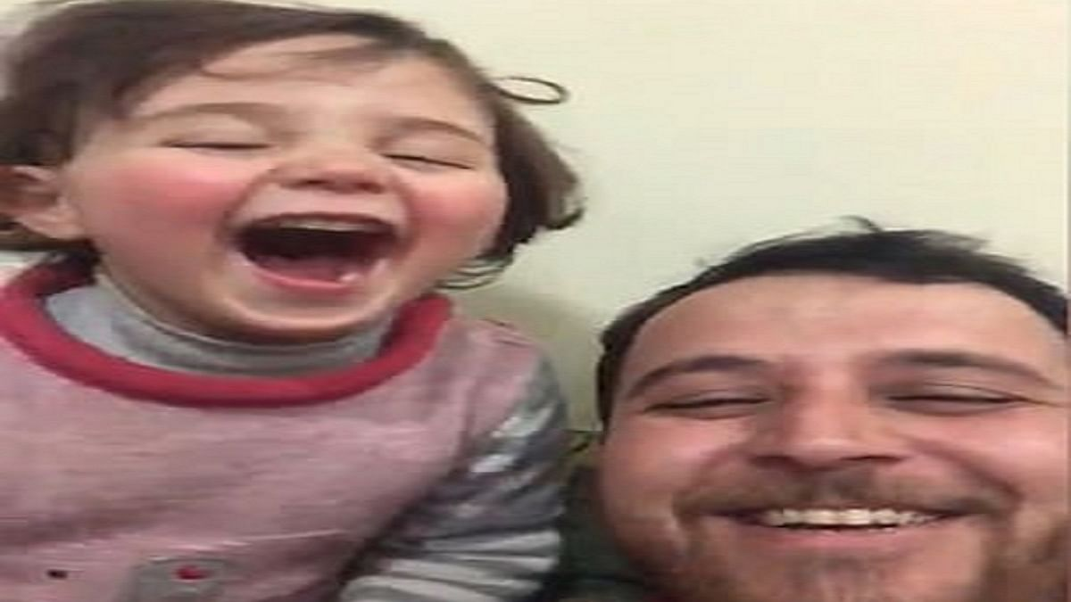 WATCH: How a Syrian father teaches his daughter to cope up with the ongoing war