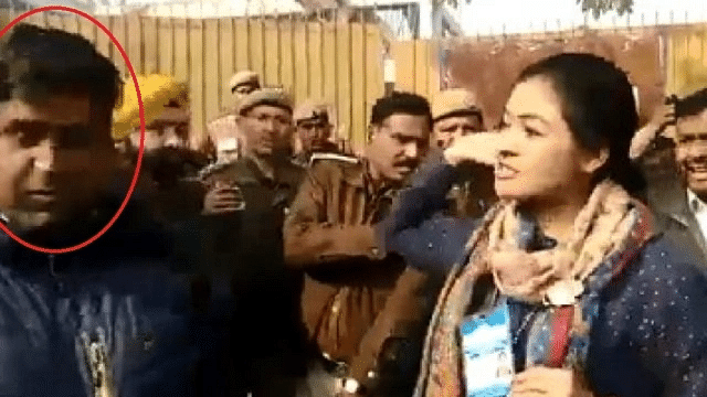 WATCH: AAP worker uses objectionable language against Congress candidate Alka Lamba