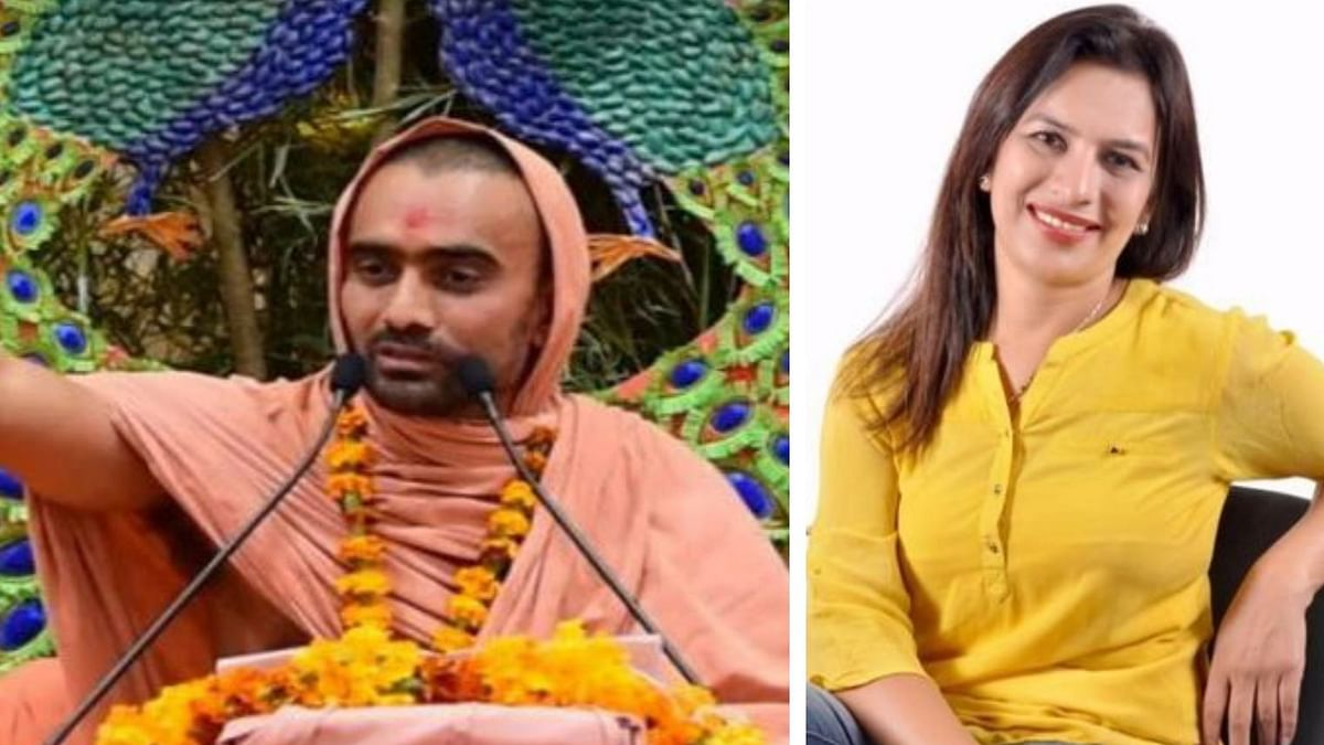 (Left) Swami Krushnaswarup Dasji; (Right) Dr Surbhi Singh