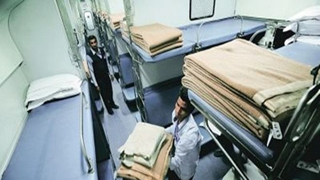 Blankets are washed on monthly basis in Rajdhani Express, reveals an RTI response