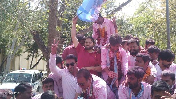 NSUI defeats ABVP, wins 6 out of 8 seats in Gujarat University students elections