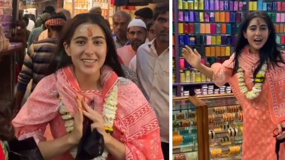 Sara Ali Khan's  visit to Kashi Vishwanath temple triggers controversy