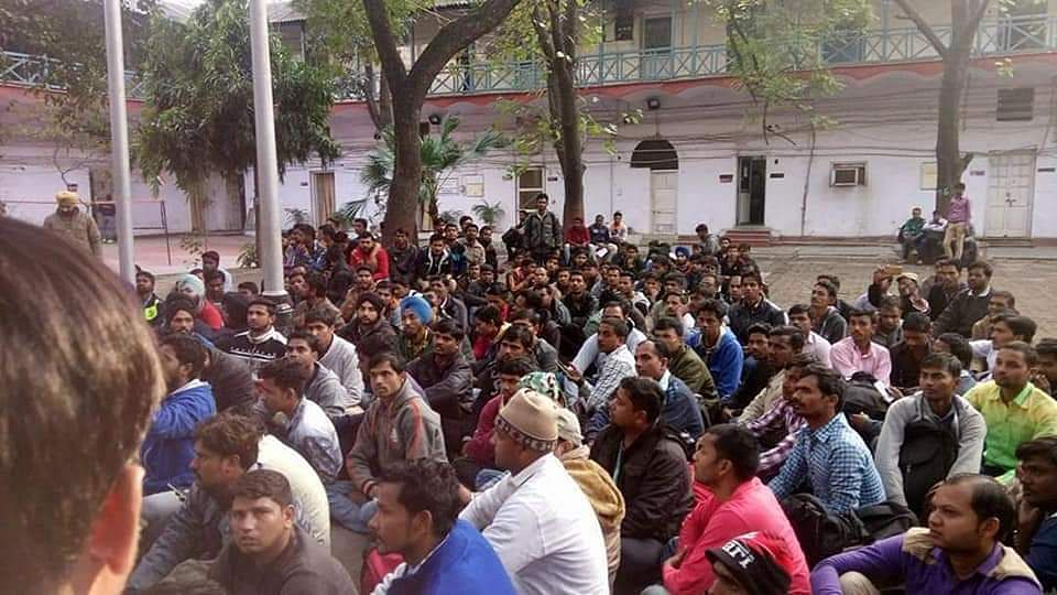 Detained protesters at the police station (Photo courtesy: Twitter)