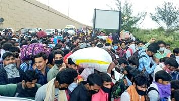 Post lockdown, waves of migrants head for home states on foot, a situation reminiscent of Partition exodus