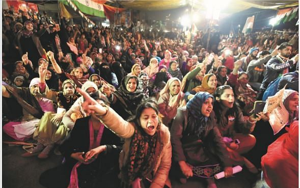 Shaheen Bagh protest against CAA and NRC