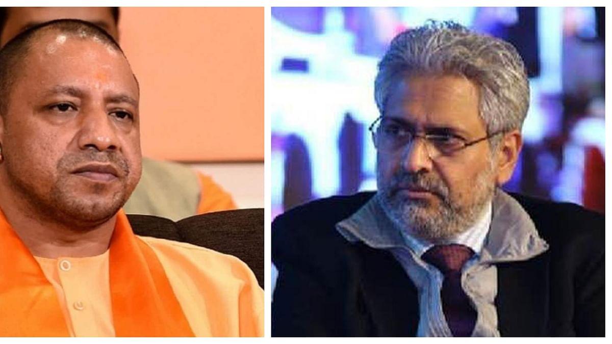 (Left) UP CM Yogi Adityanath; (Right) Siddharth Varadarajan