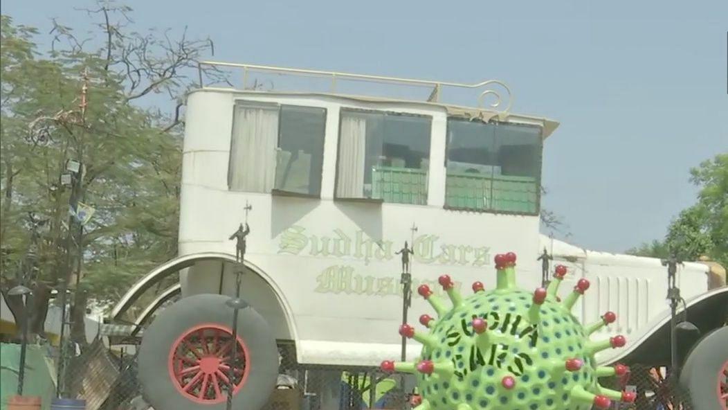 Hyderabad man creates 'corona car' for public awareness