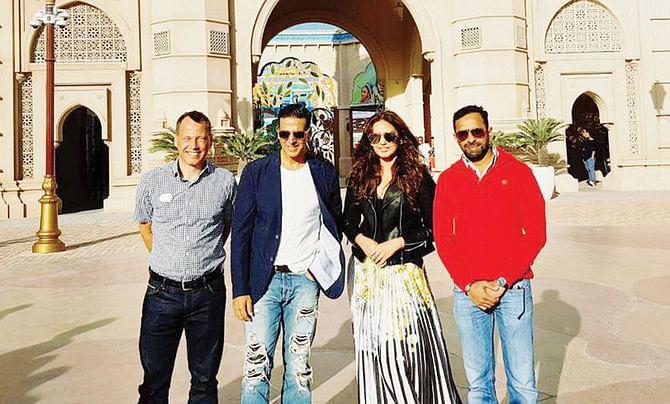 Akshay Kumar and actress Huma Qureshi at Dubai's Bollywood Parks on 06 February 2017 (FILE PHOTOS)