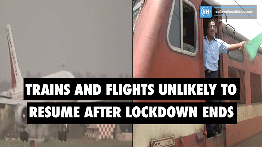 Trains and flights unlikely to resume after lockdown ends