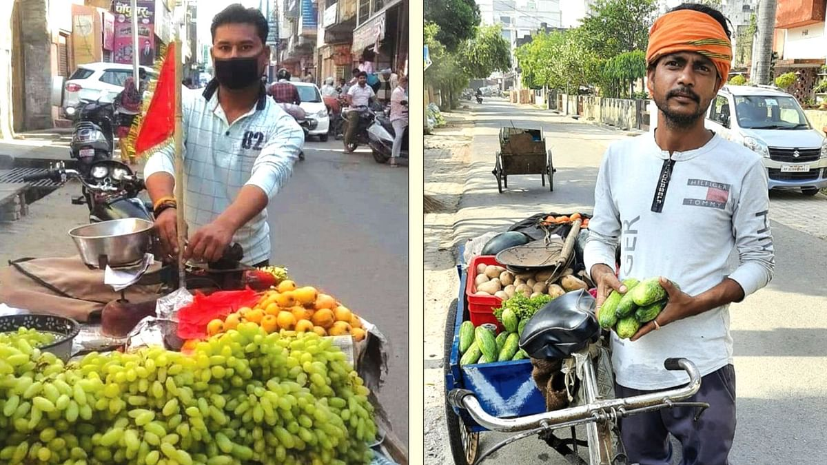 Displaying religious identity to sell vegetables