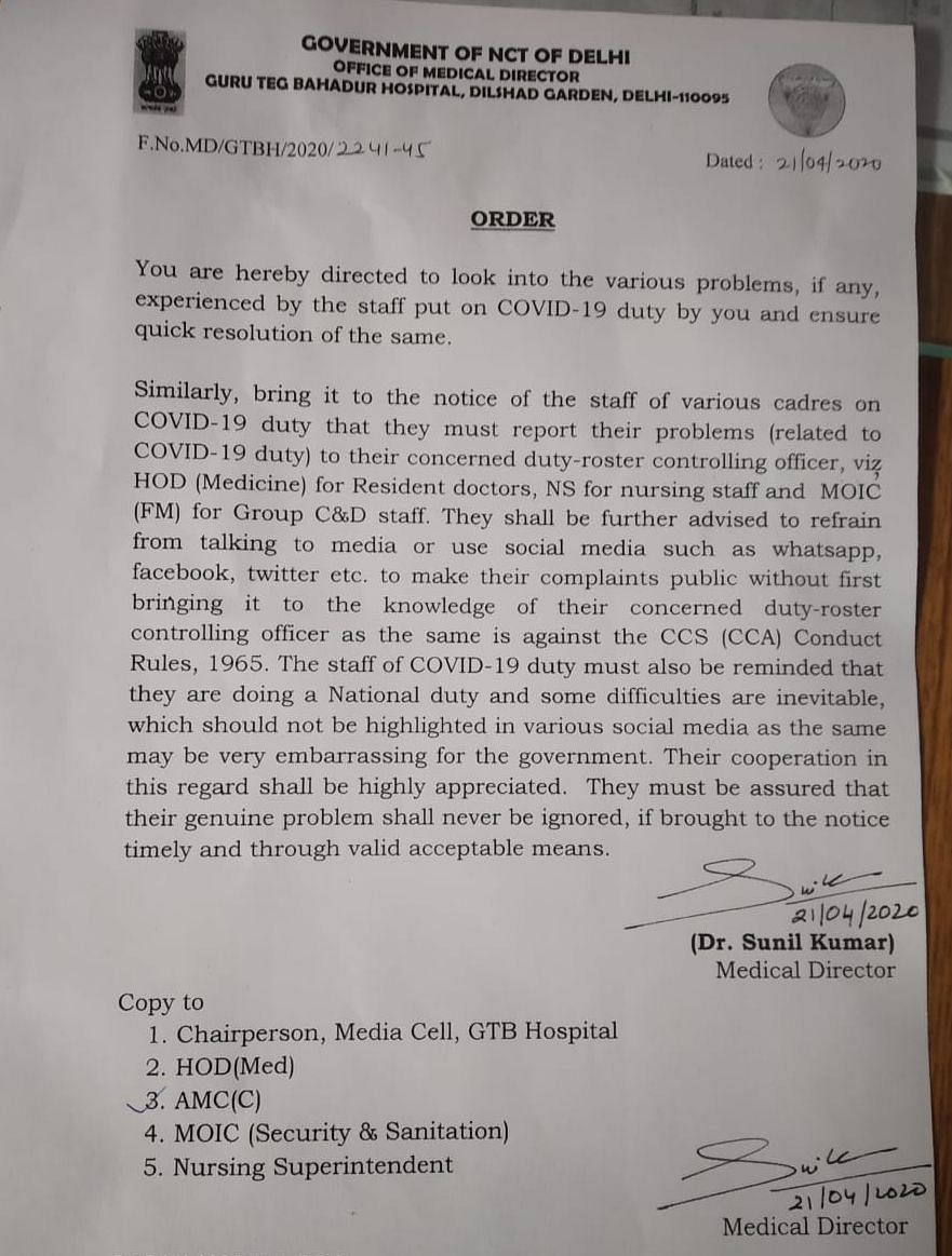 COVID-19: Delhi government issues order to gag health staff from speaking to media, airing grievances online