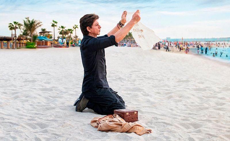 Shah Rukh Khan in Dubai on February 25 (FILE PHOTO)