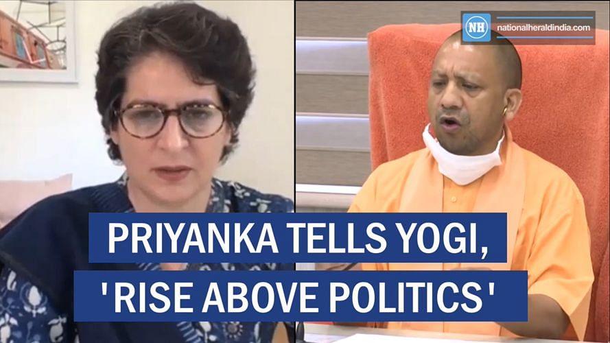 Priyanka tells Yogi, 'rise above politics'