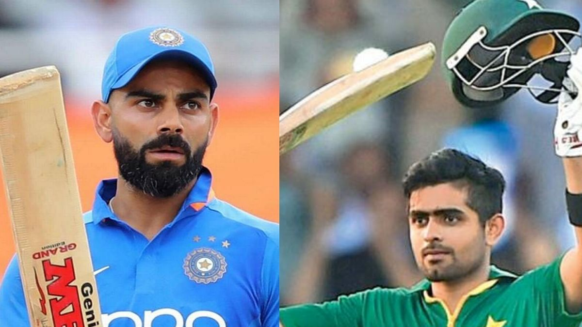 Indian captain Virat Kohli and Pakistan's limited-overs skipper Babar Azam (Photo Courtesy: social media)