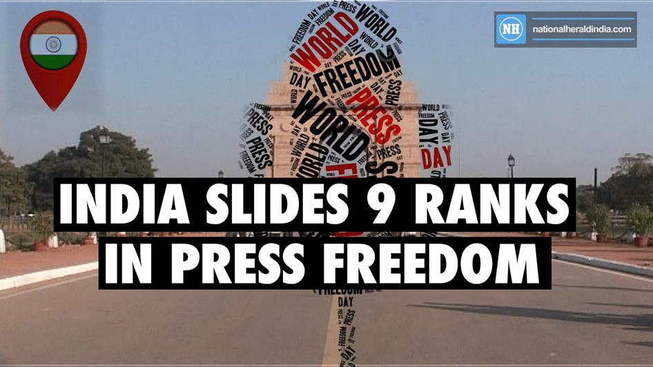 India slides 9 ranks in press freedom