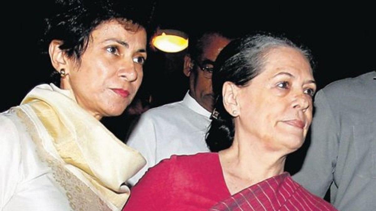 (Left) Kumari Selja with (Right) Sonia Gandhi