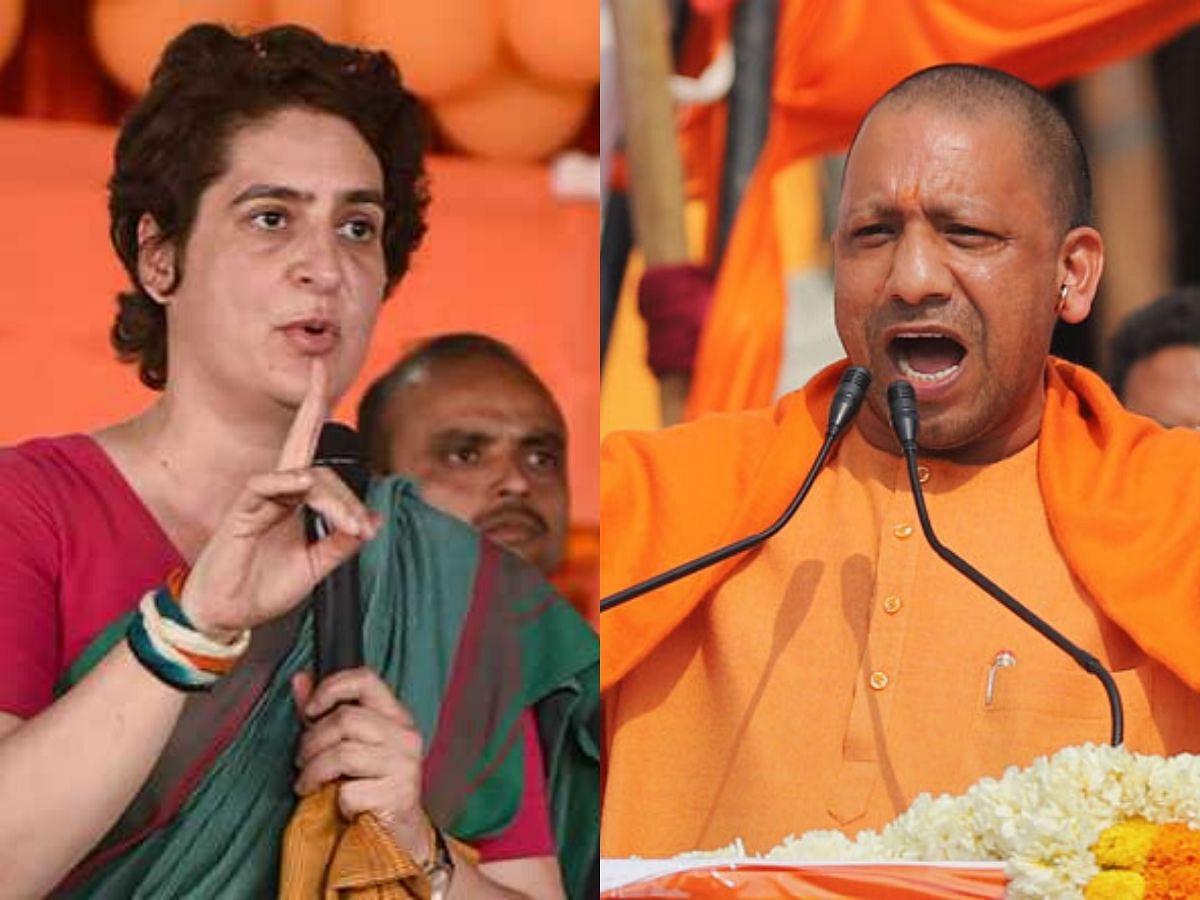 Congress leader Priyanka Gandhi and UP CM Yogi Adityanath (Photo Courtesy: social media)