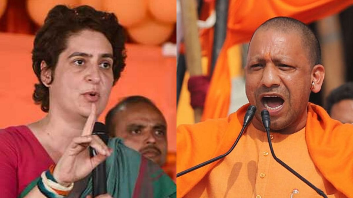 Congress leader Priyanka Gandhi and UP CM Yogi Adityanath (Photo Courtesy: social media)