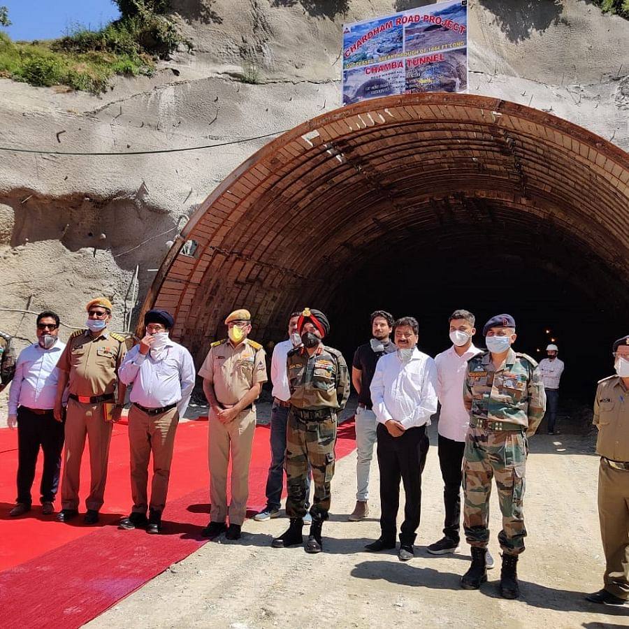 Major breakthrough in tunnel beneath Chamba town by BRO in 'Char Dham' road project