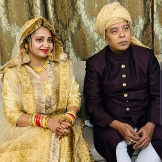 The newly wed couple Ustad Wasifuddin Dagar and Zainab
