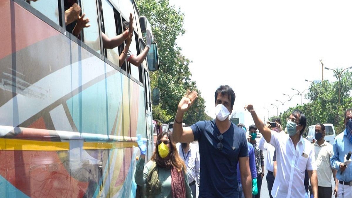 Sonu Sood arranges bus transport for migrant workers