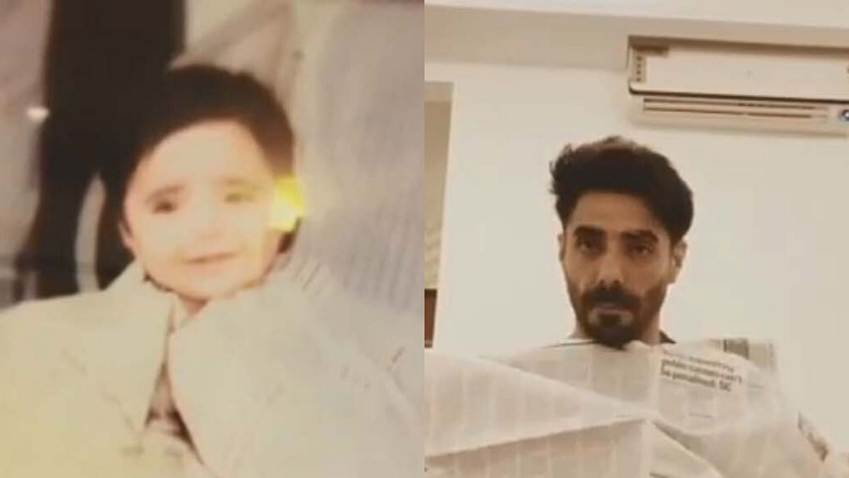 Aparshakti Khurana recreates childhood 'newspaper' moment