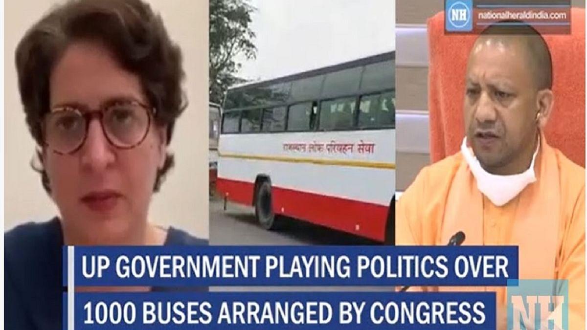 Priyanka Gandhi slams Yogi for 'bus politics'