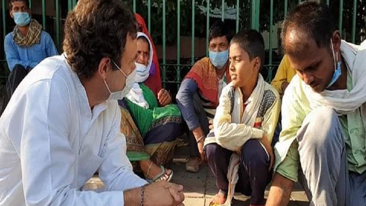 Rahul Gandhi Shares the migrants' tale of tears