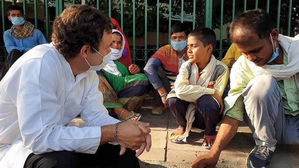 Rahul Gandhi meeting migrants unnerves the Modi govt, Delhi police takes poor workers into custody