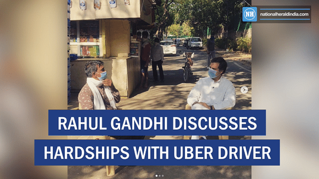 Rahul Gandhi discusses hardships with Uber driver
