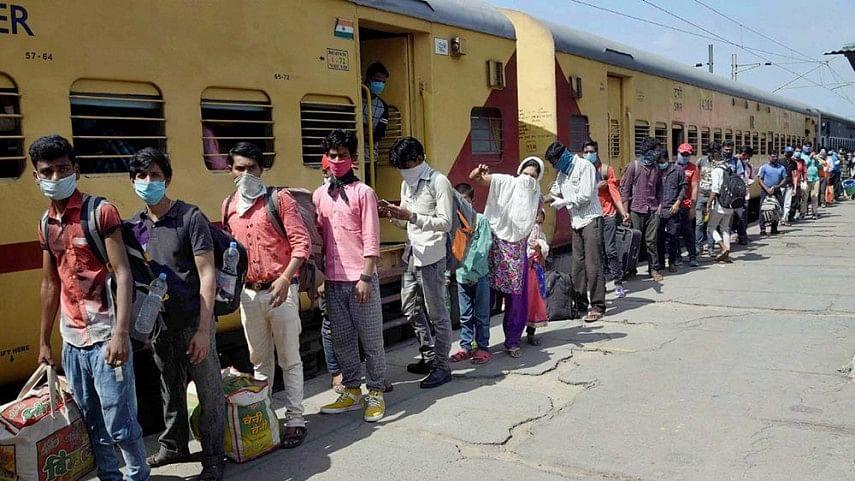 BJP Govt promotes slavery and bonded labour, cancels trains for migrants