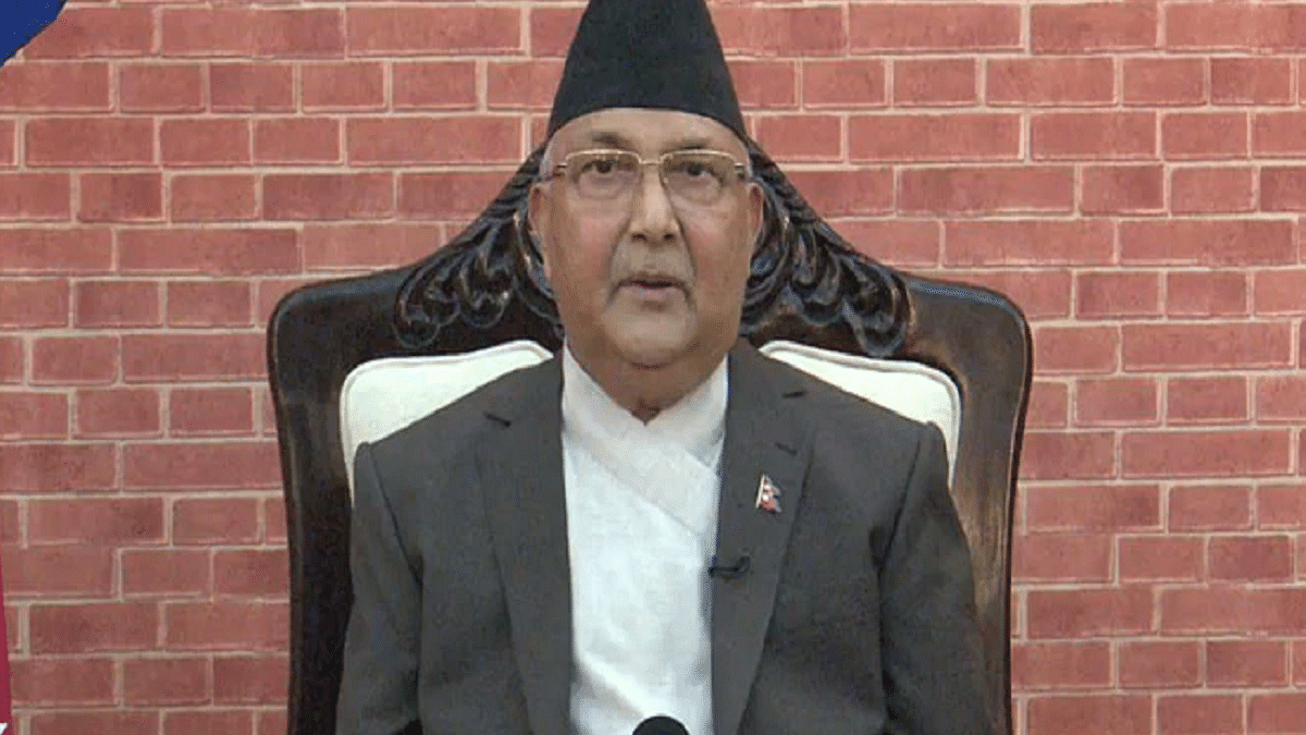 Nepal Prime Minister KP Oli (Photo Courtesy: Twitter)