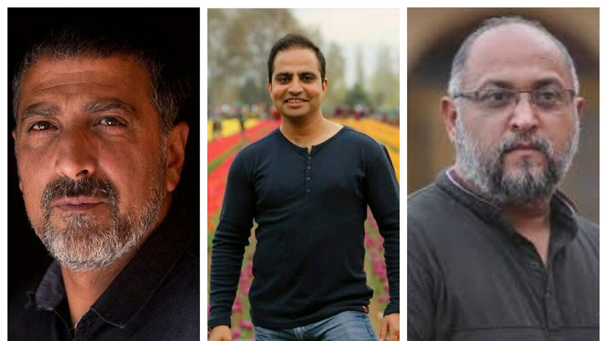 (From left) Dar Yasin, Mukhtar Khan and Channi Anand- the three photojournalists who have won the coveted Pulitzer Prize