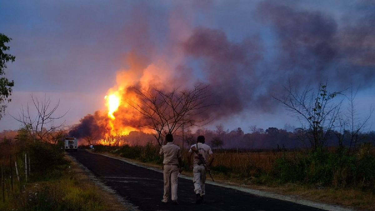 7,000 shifted, 35 houses destroyed in Assam blaze as oil well fire rages