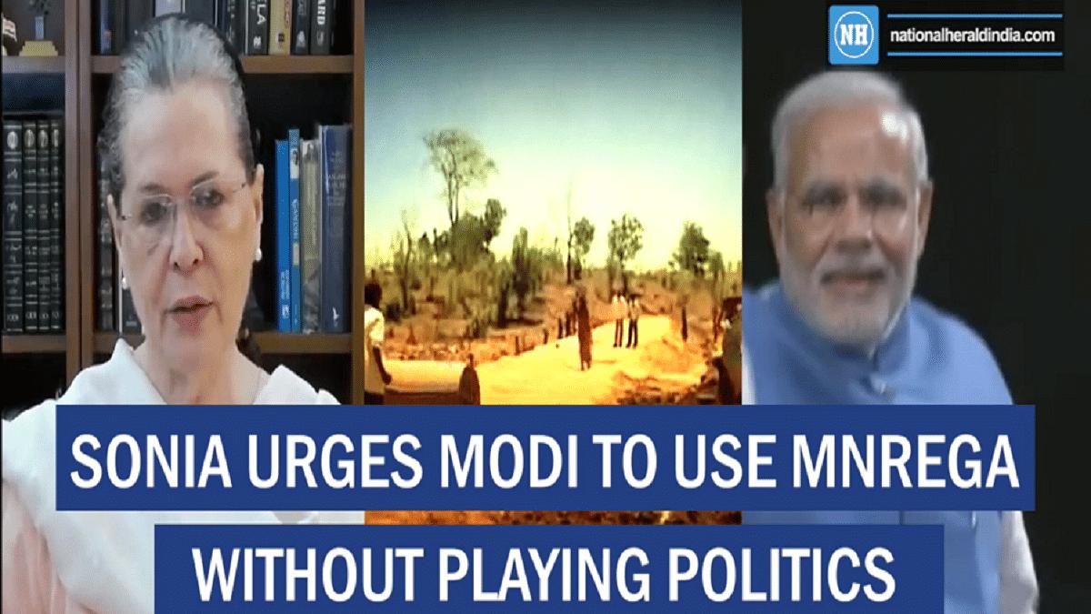 Sonia urges Modi to use MNREGA without playing politics