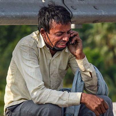 Stranded migrant worker during lockdown (File Photo: social media)