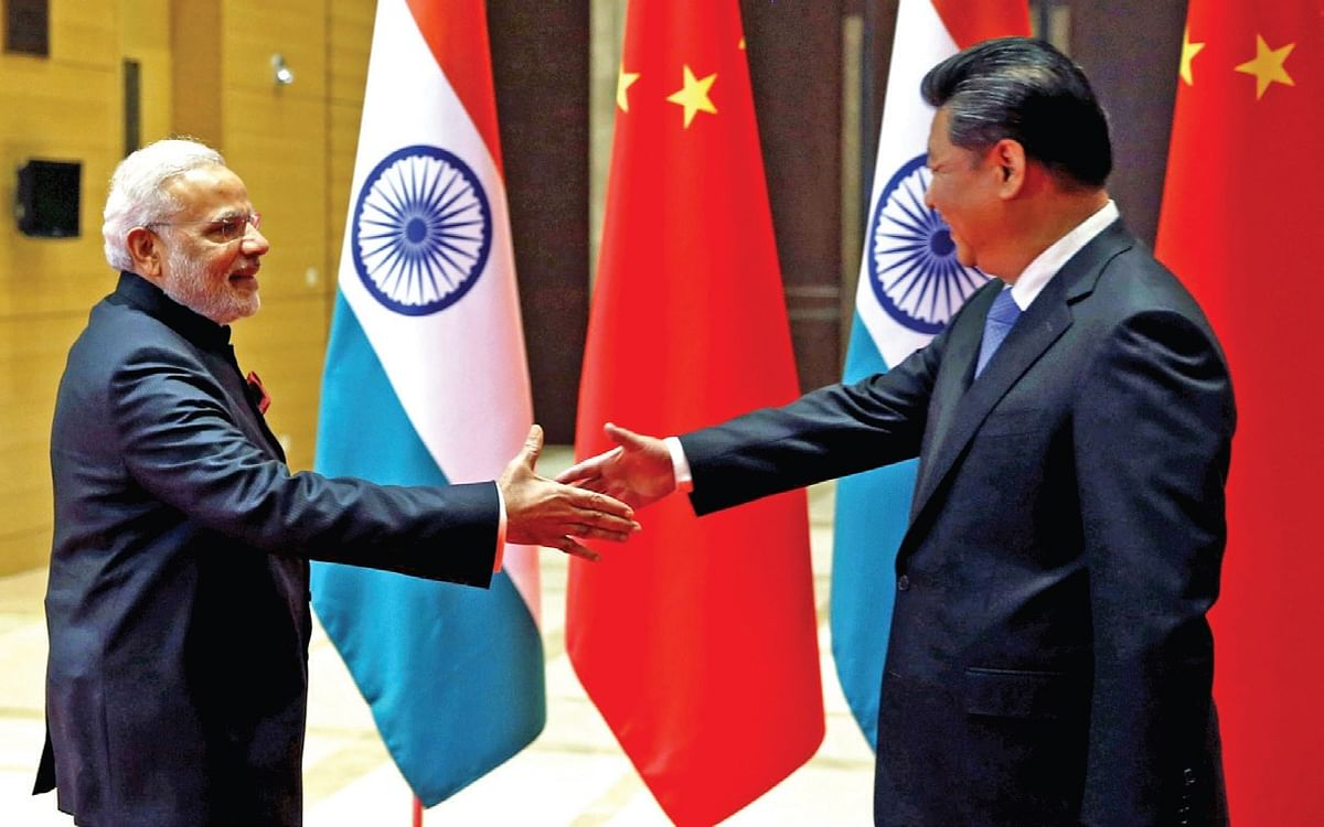 <b>Xian, China, Ma y 14, 2015: </b>Prime Minister Narendra Modi and Chinese President Xi Jinping attend a meeting on May 14, 2015 in Xian, Shaanxi province, China