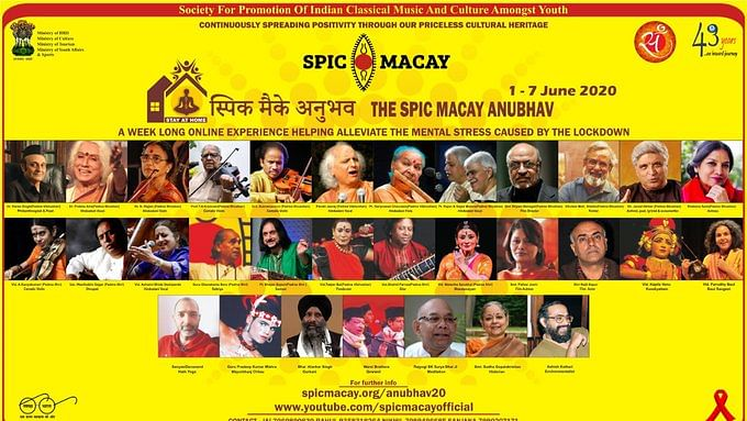 In a first, Week long SPIC MACAY Anubhav series goes on line, starts from today