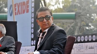 Cricket legend Sunil Ganaskar (IANS Photo)