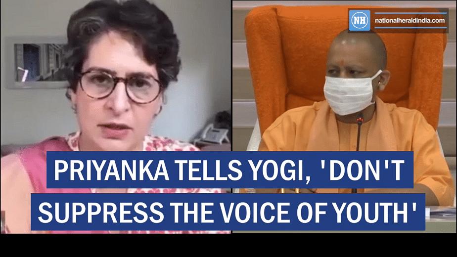 Priyanka tells Yogi dont suppress the voice of youth