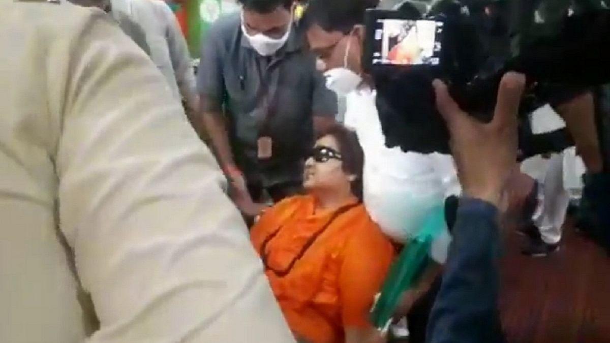 Sadhvi Pragya Thakur falls ill at BJP event in Bhopal
