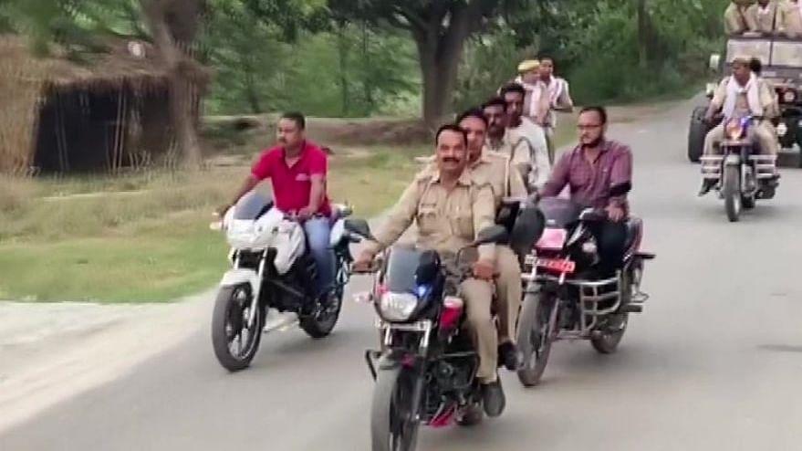 Uttar Pradesh: Video shows cops violating social distancing norms; SHO suspended