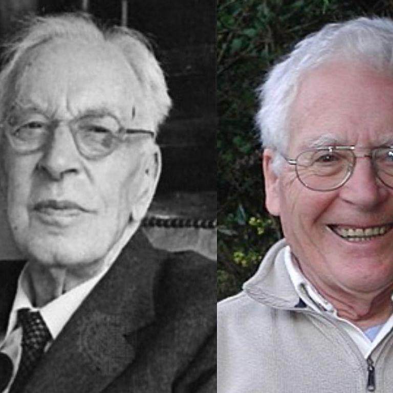 (Left) Arnold Toynbee; (Right) James Lovelock