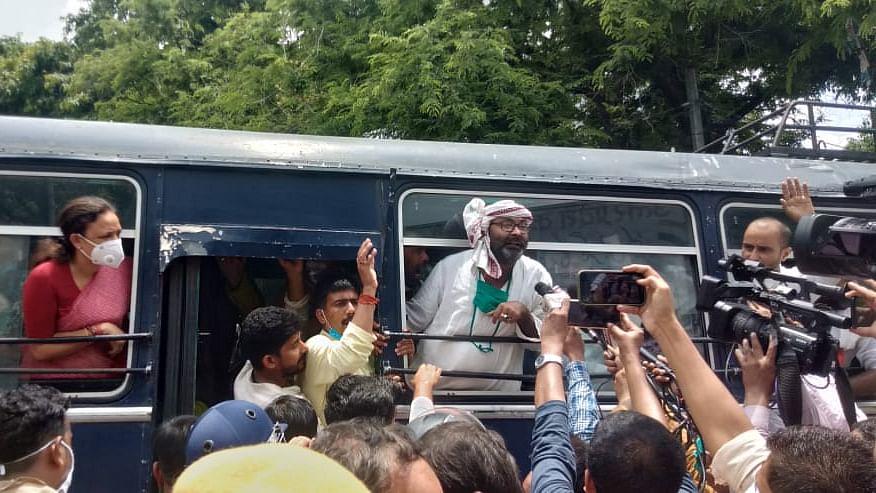 Congress UP president Ajay Kumar Lallu and Congress Legislature Party leader Aradhana Mishra arrested on Tuesday