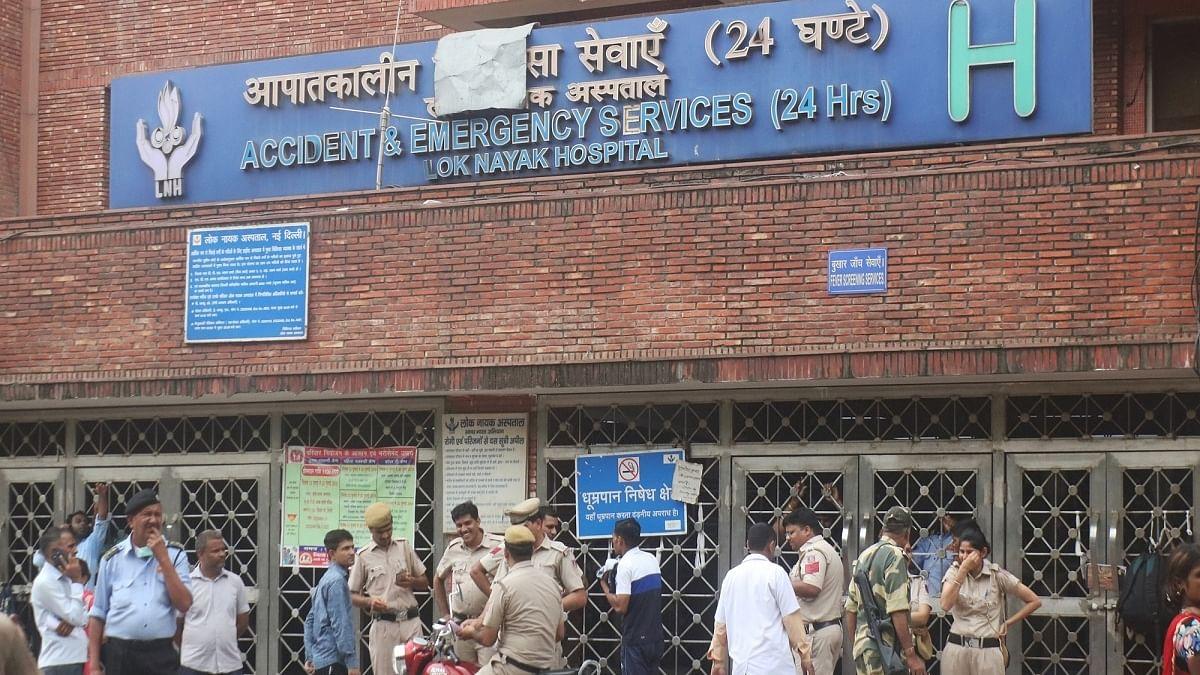 Lok Nayak Jai Prakash (LNJP) Hospital, Delhi (Photo Courtesy: IANS)