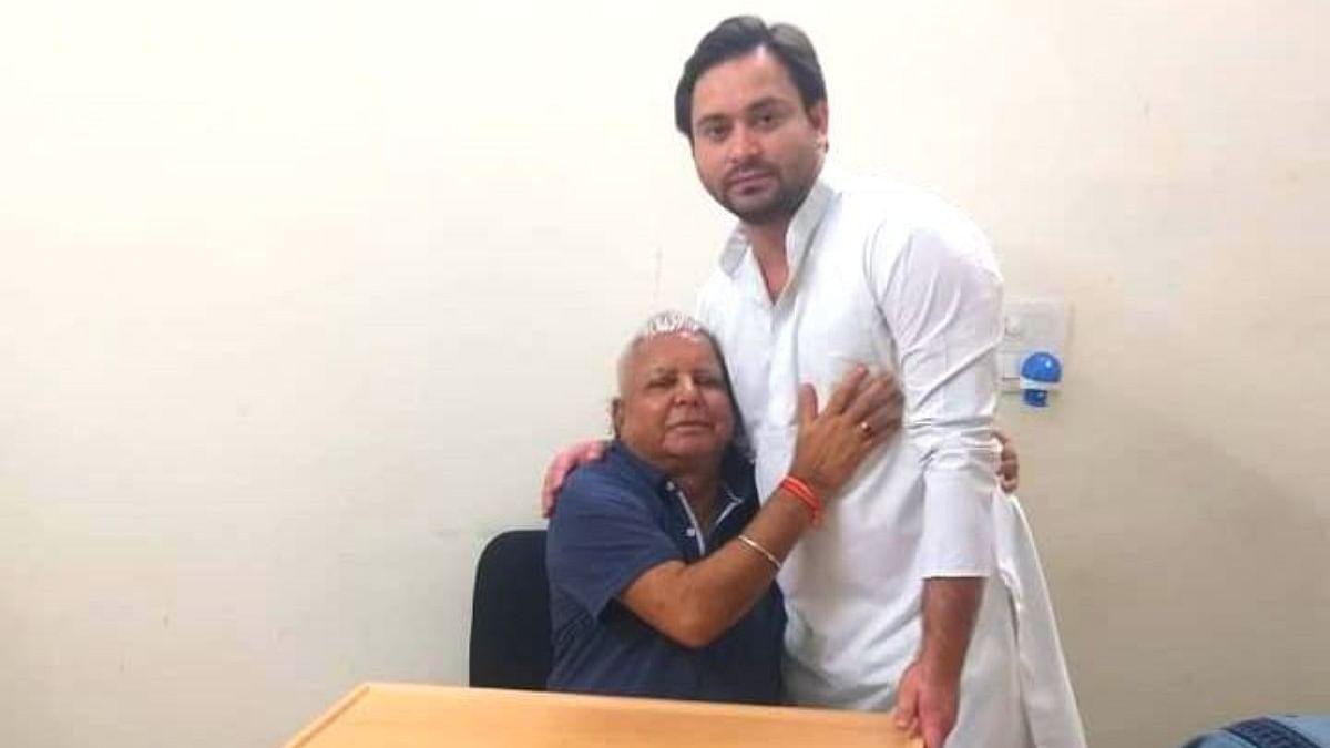 Tejashwi Yadav meets jailed Lalu Prasad, greets him on birthday