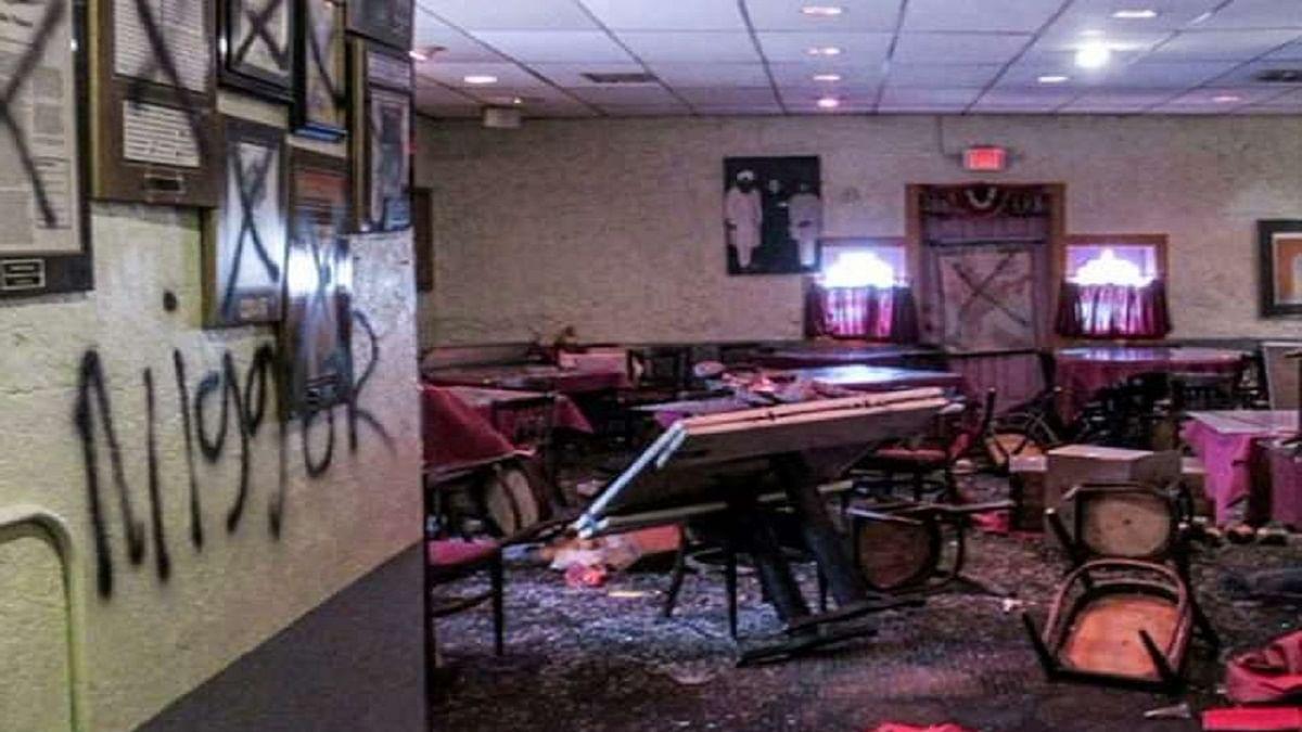 Indian restaurant vandalised in US, racist graffiti written at site