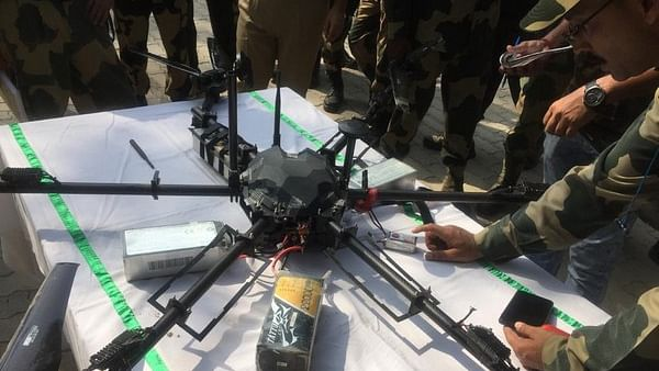 Pakistani drone loaded with arms shot down by BSF along IB in J&K