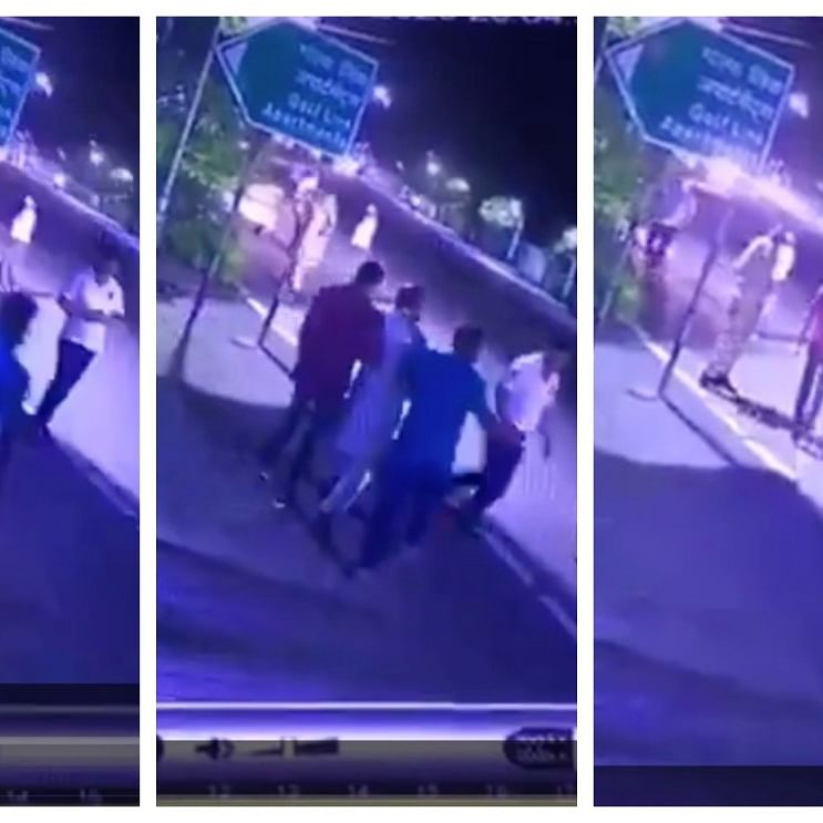 Screenshots from a video of the incident