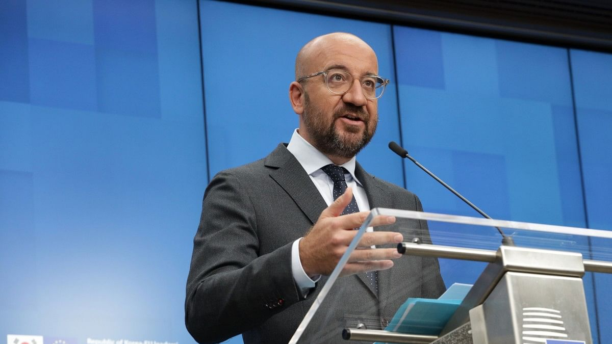 President of the European Council Charles Michel (European Union/Handout via Xinhua/IANS)